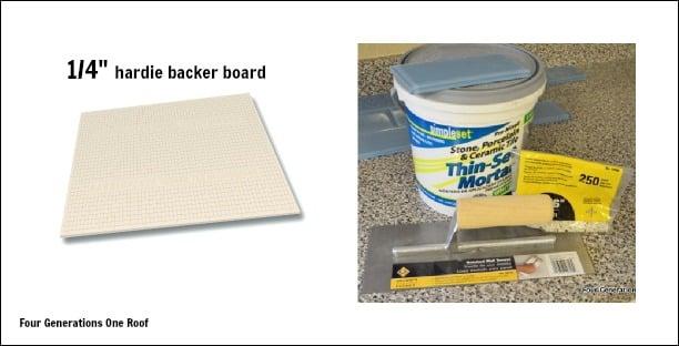 kitchen backsplash items needed