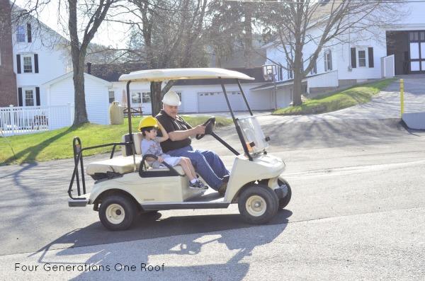Fun Friday golf cart ride