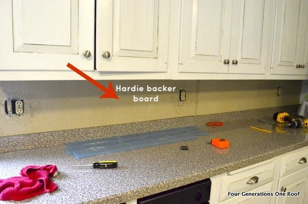 Kitchen Backsplash Removal how to install a backsplash {tutorial} - four generations one roof