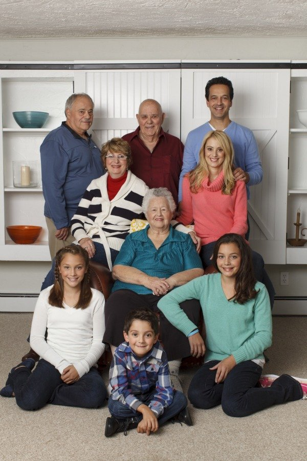 four generations all living under one roof