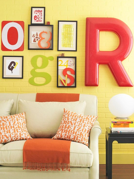 Diy Alphabet Wall Decor : Diy wall art archives four generations one roof