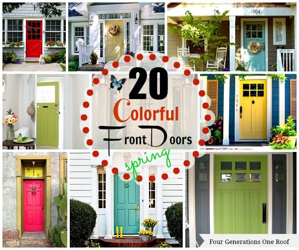 bright + colorful front doors