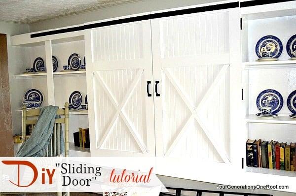 Creative DIY Sliding Doors {tutorials} - Four Generations One Roof