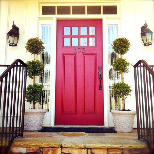 20 colorful front door colors four generations one roof for Small house front door ideas
