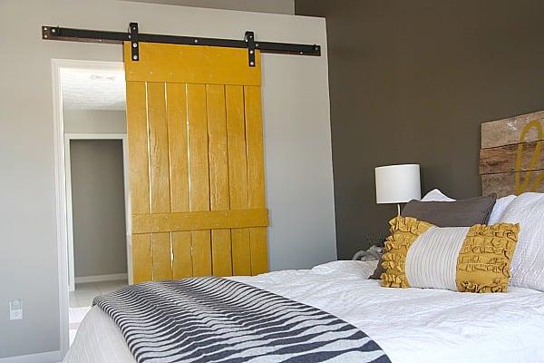 creative diy door idea for a bedroom