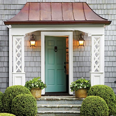 Colorful Front Door Colors Four Generations One Roof - Green front door