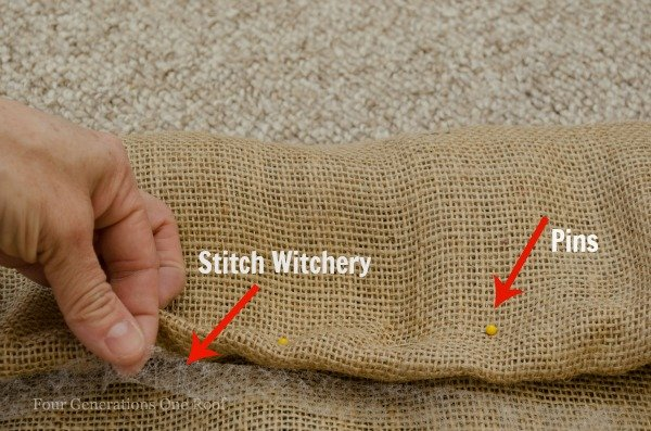 how to make curtains with burlap