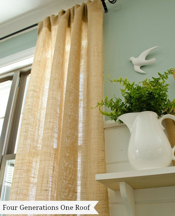 how to make curtains using burlap no sew