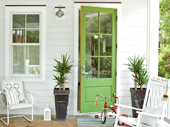 Bright Green House 20 Colorful Front Door Colors Four Generations One Roof