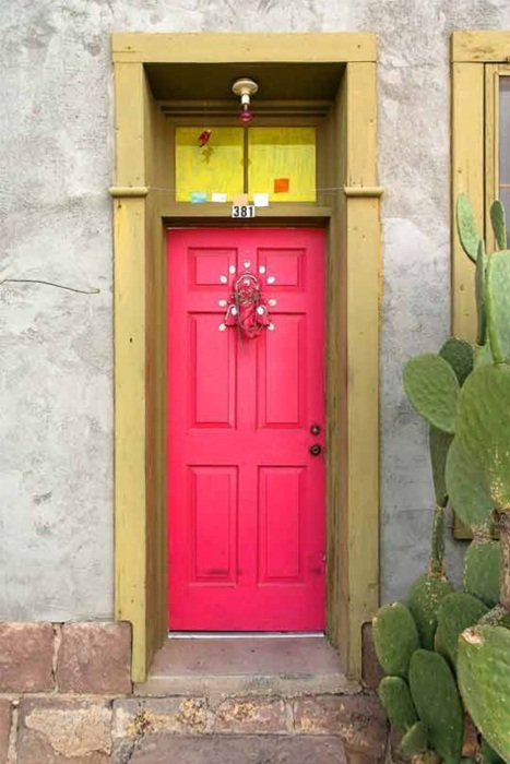 pink-front-door color ideas