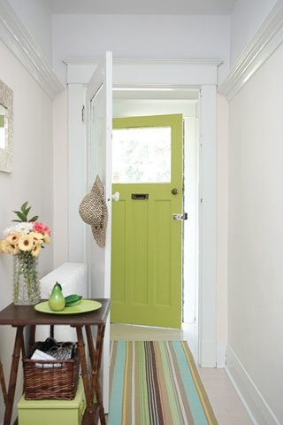 soft pistachio front door color ideas