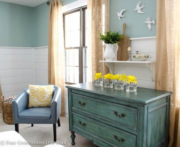 spring shelf mantel family room