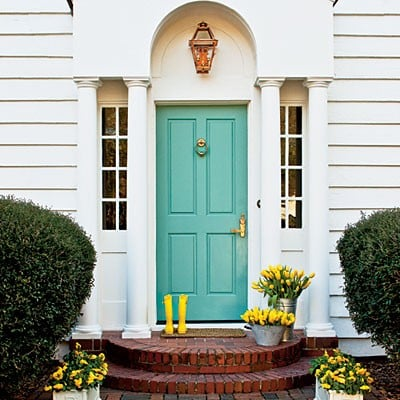 20 colorful front door colors - Four Generations One Roof on Door Color Ideas  id=77191