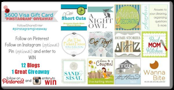 Pinstagram 0 visa gift card giveaway