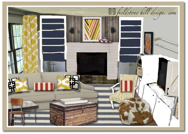 playroom + study mood board progress