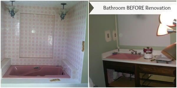 blue bathroom spruce up + bathroom fan