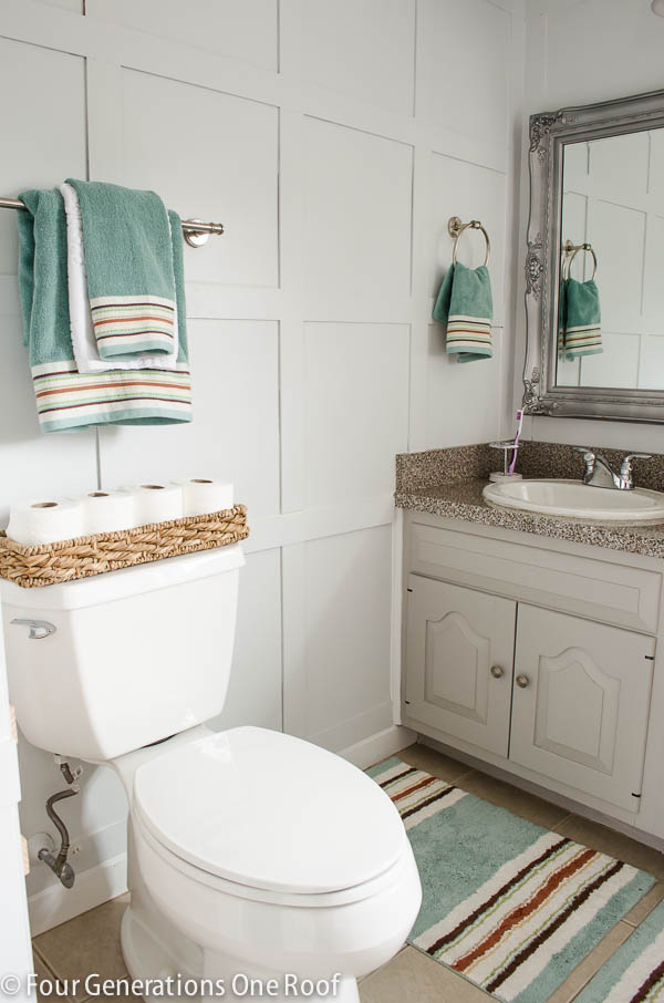 cottage bathroom refresh with Better Homes and Garden