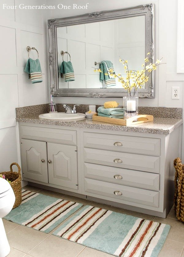 Bathroom refresh with better homes and gardens makeover for Garden bathroom ideas