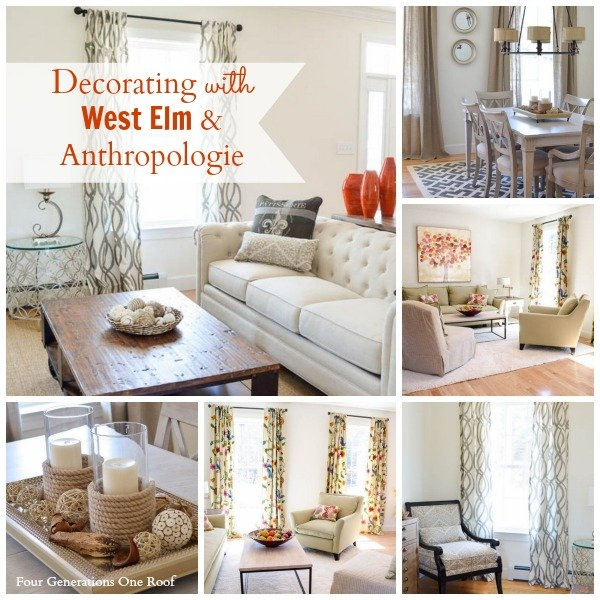 decorating inspiration with west elm and anthropologie