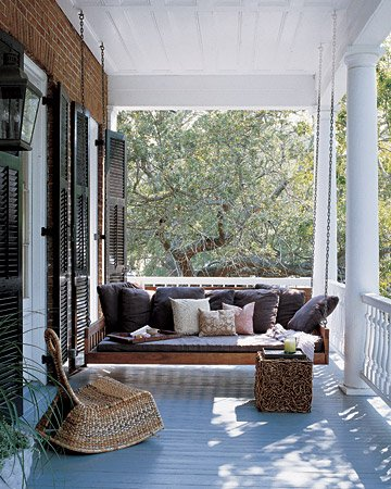 front covered porch with swing