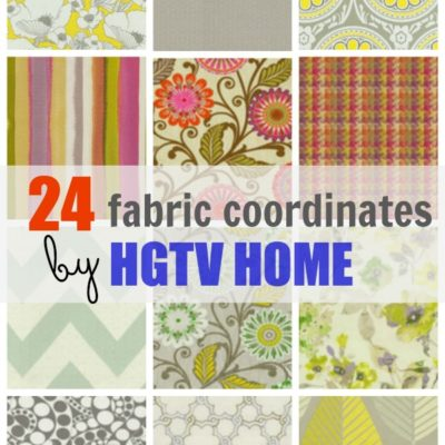 Gorgeous fabric coordinates by HGTV HOME