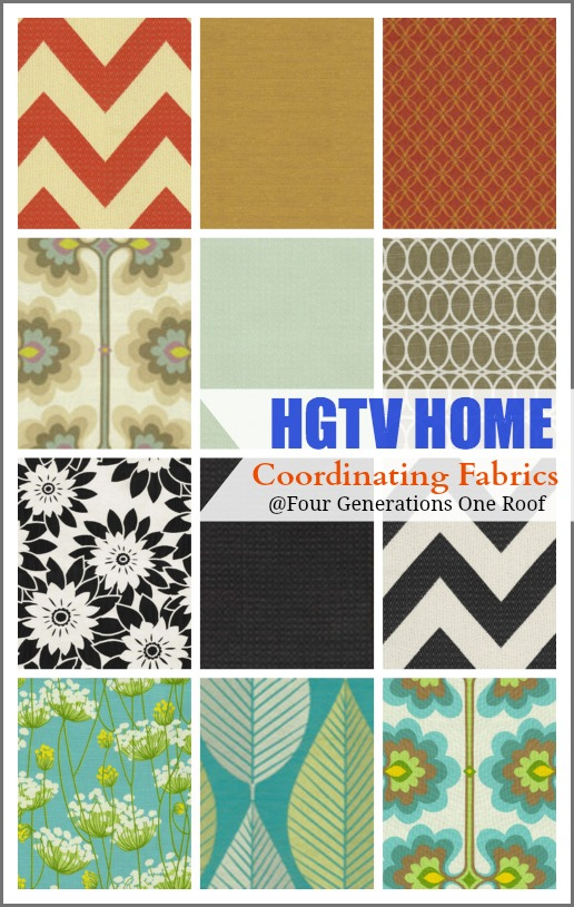 Gorgeous coordinating fabrics by HGTV Home