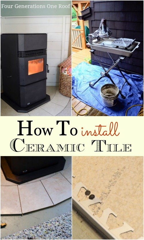 how to install ceramic floor tile in bathroom how to lay ceramic tile tutorial four generations one roof 26386