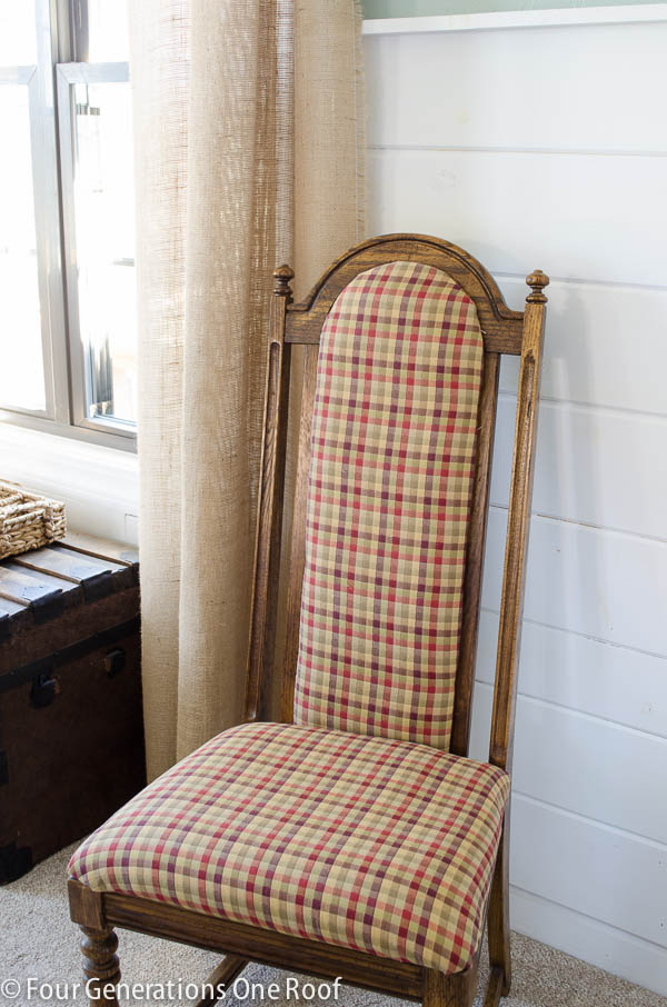 Wingback archives four generations one roof for How to reupholster a chair