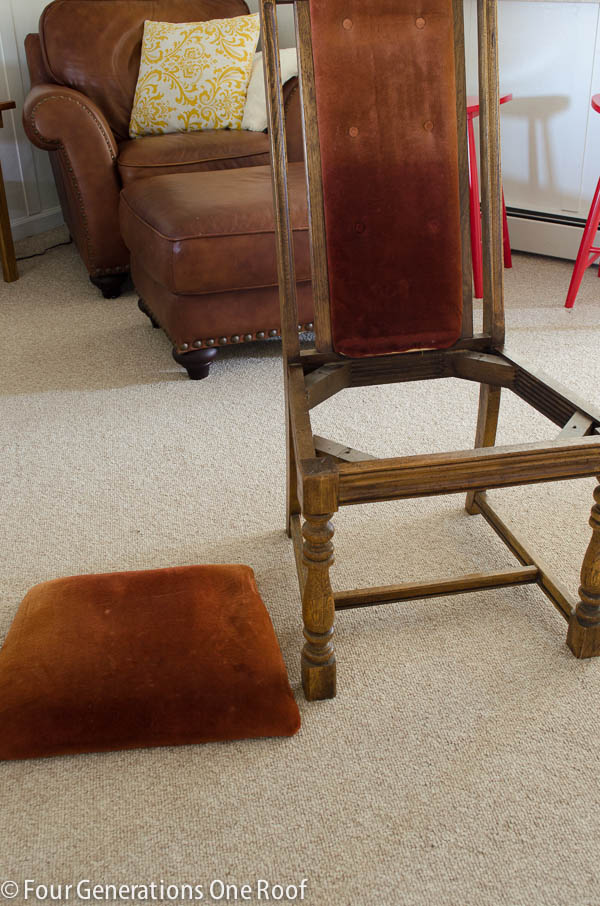 How to reupholster a dining chair four generations one roof for How to reupholster a chair