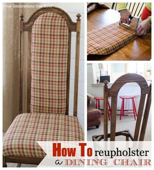 Recover Dining Room Chairs: How To Reupholster A Dining Chair