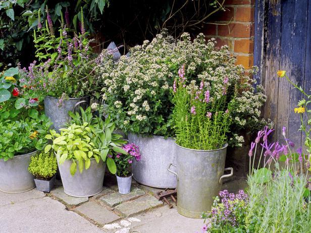 outdoor planter metal pot