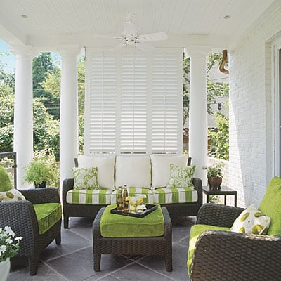 OUtdoor covered porches