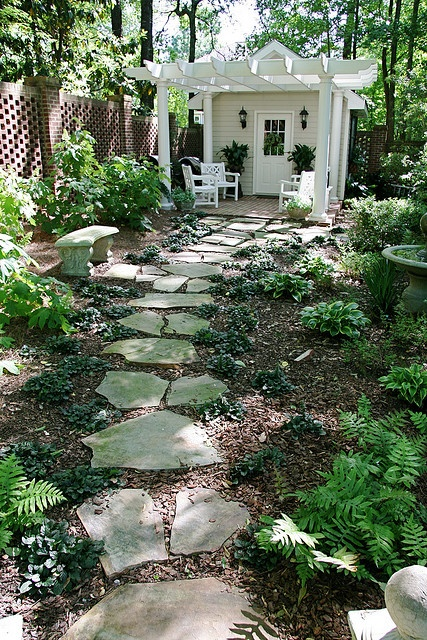 Creative Stone Paths Four Generations One Roof