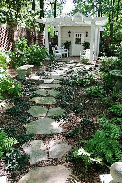 creative stone walkway