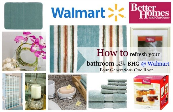 Bathroom refresh with better homes and gardens @ walmart