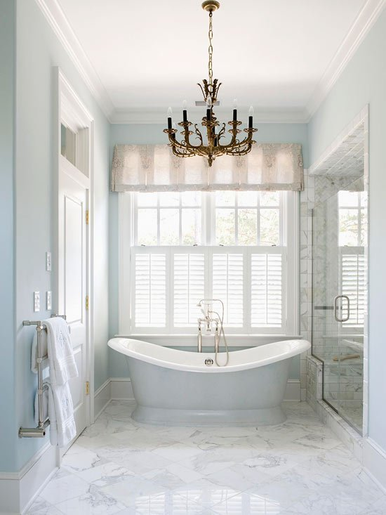 Dreamy spa bathrooms wayfair curated sales event four generations one roof Bathroom designs with separate tub and shower