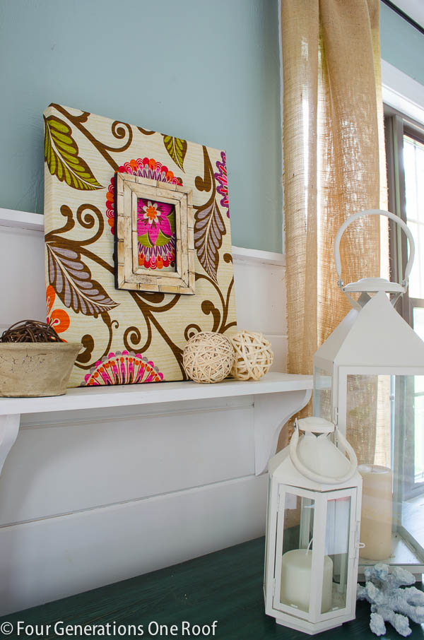 fabric diy wall art tutorial