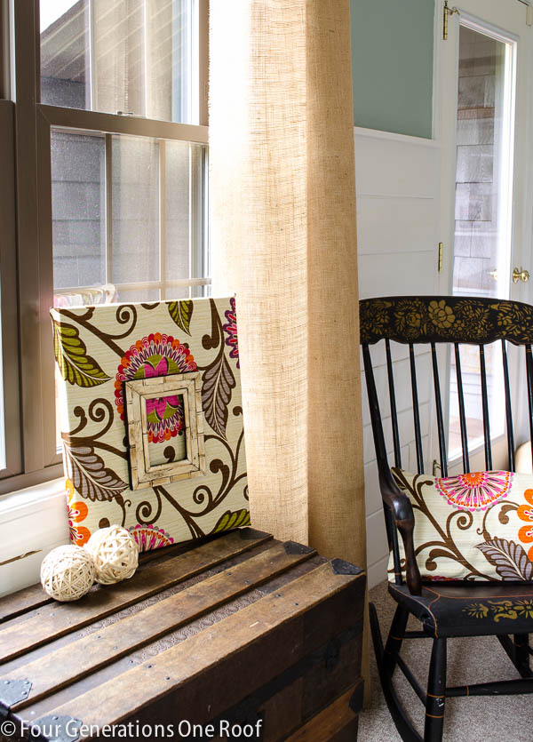Diy Fabric Wall Art Pinterest : Fabric diy wall art tutorial four generations one roof