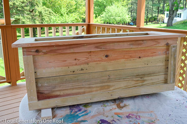 Our Large Diy Planter On Wheels Tutorial Four