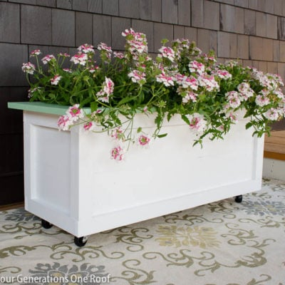 Our Large DIY Planter on wheels {tutorial}