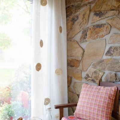 No Sew DIY White Burlap Curtains