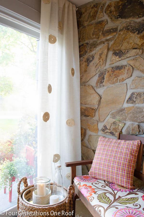 how to eliminate burlap curtain odor