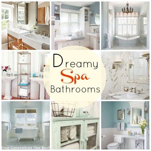 Dreamy spa bathrooms wayfair curated sales event four for Spa decorated bathroom ideas