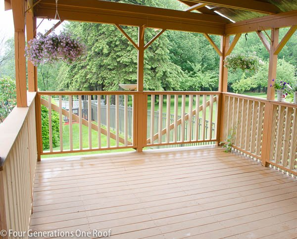 our summer covered porch