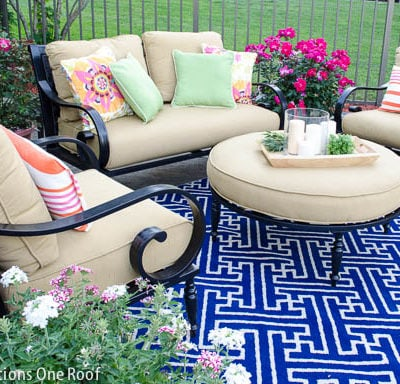 Creating an Outdoor Living Area {our pool}