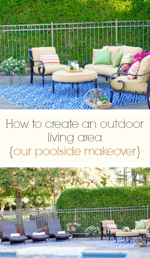 creating an outdoor living area