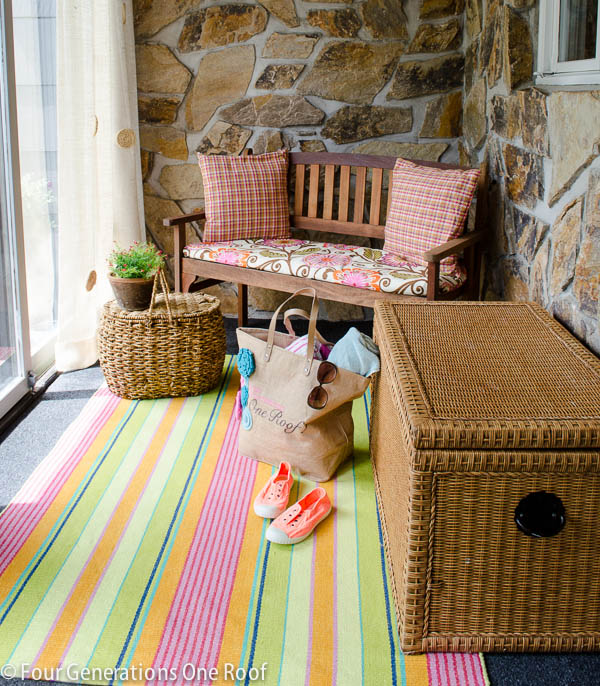 diy summer decorating in our foyer