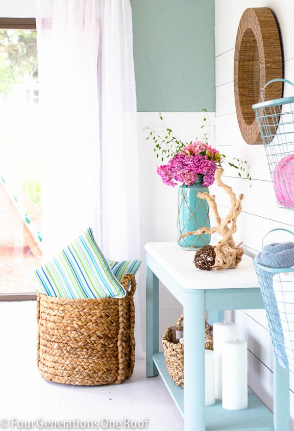 Shiplap pool house makeover