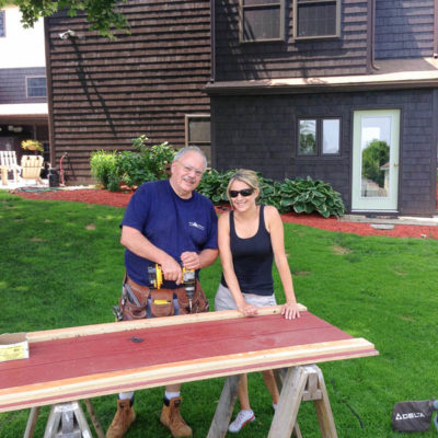 Our DIY Doors {toy shed renovation}