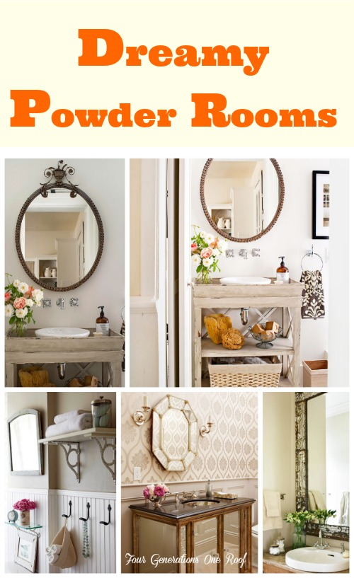 dreamy powder rooms {mini-makeover in the works} - four